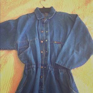 Liz Sport denim dress vintage 80s